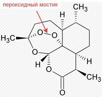 Химическая формула артемизинина