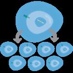 Клонирование модифицированных клеток крови